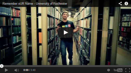 """University of Rochester's Admission Office gets creative with the """"Remember oUR Name"""" rap song"""