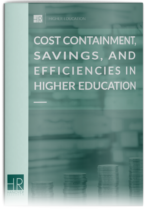 higher education cost containment efficiencies and savings