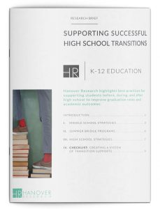 K-12 Supporting Successful High School Transitions