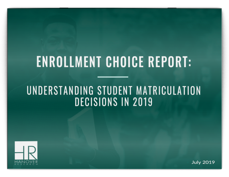 enrollment choice report
