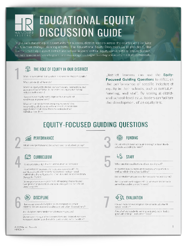Educational Equity Discussion Guide