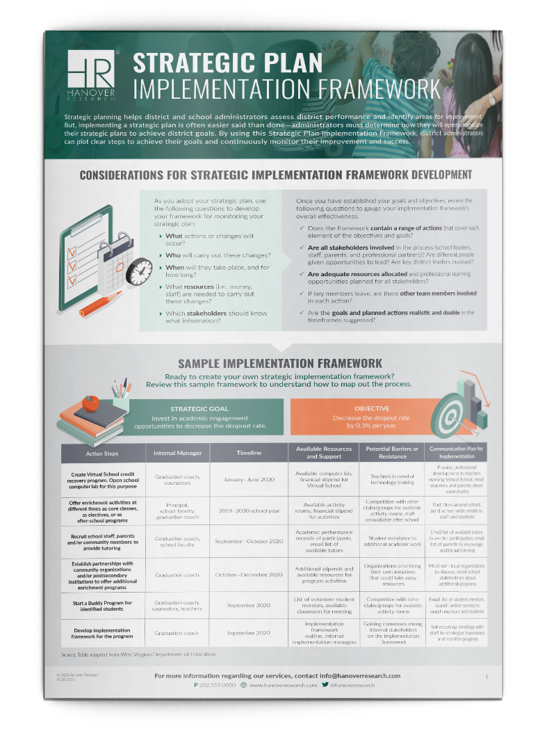 strategic plan implementation framework