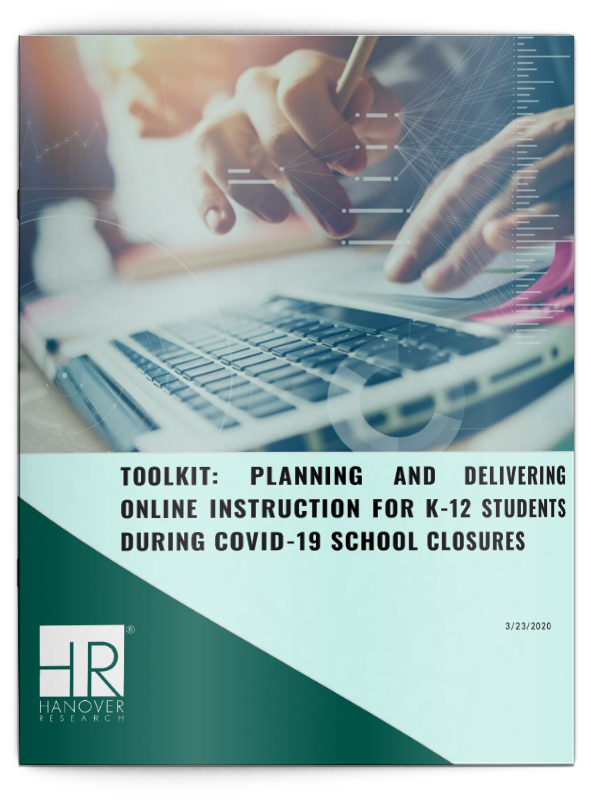 Toolkit: Planning and Delivering Online Instruction During COVID-19 School Closures