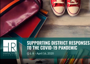 Supporting District Responses to the COVID-19 Pandemic