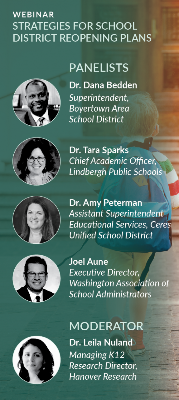 Webinar Recording: Strategies for School District Reopening Plans