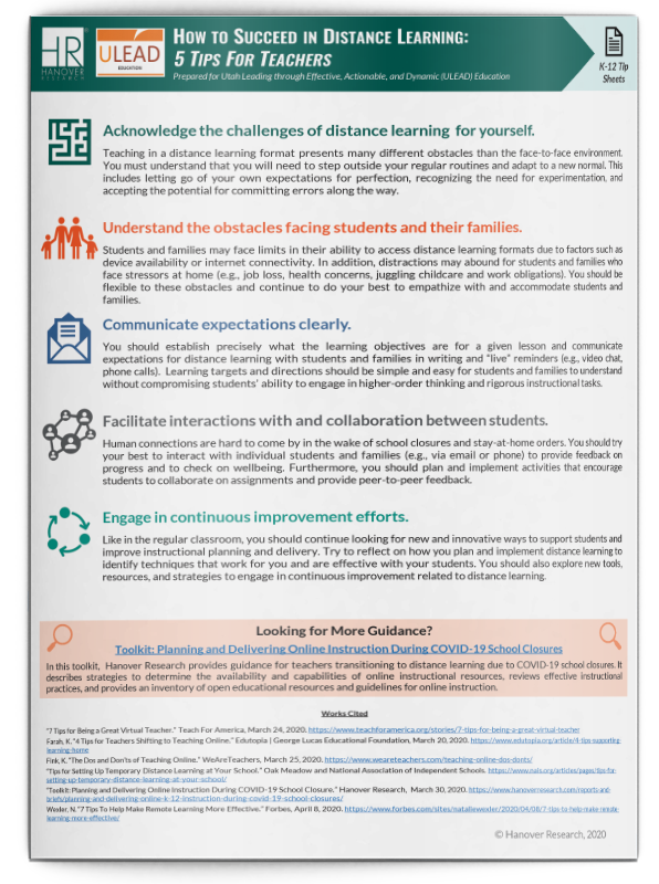 how to succeed in distance learning tips for teachers
