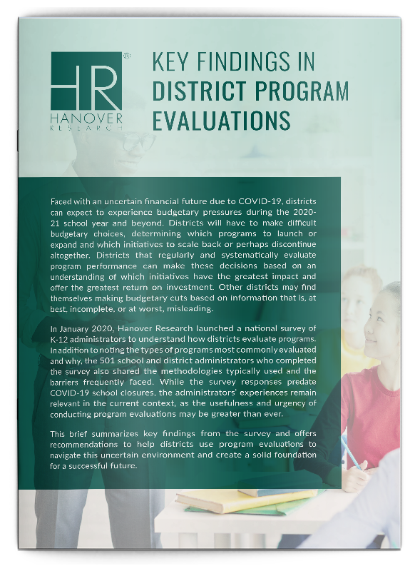 Key Findings in District Program Evaluations