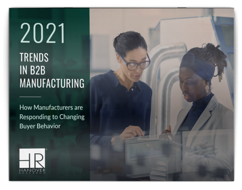 cover of the 2021 Trends in B2B Manufacturing report