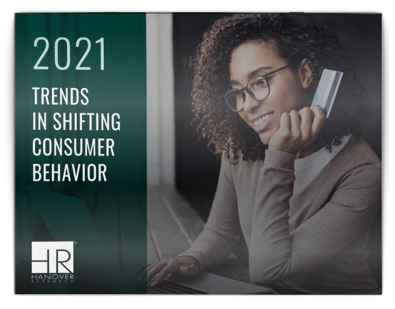 report cover for 2021 Trends in Shifting Consumer Behavior