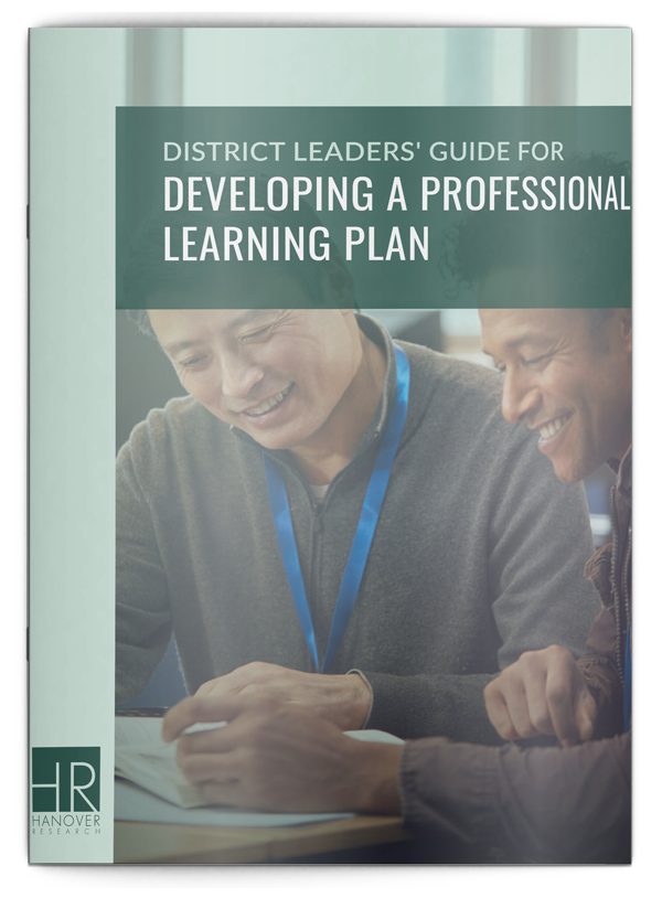 cover image of district leaders guide for developing a professional learning plan